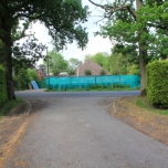 From the entrance of Little Springfield Farm (Brownfield) looking to Plaistow Road