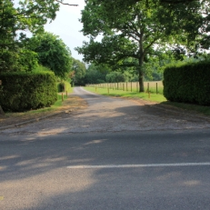 The existing access into the private road of Little Springfield Farm (Brownfield)