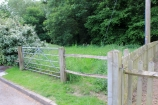 Alternative entrance to the site North West end of Ashfield (nearest to the PROW and Ancient Woodland)