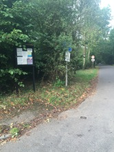 Durfold Wood - Parish Council Noticeboard at entrance (Photo: C. Gibson-Pierce)
