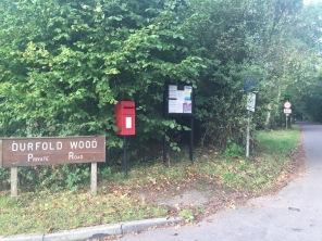 Durfold Wood entrance (Photo: C. Gibson-Pierce)